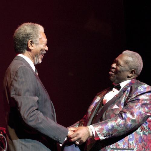 B. B. King and Morgan Freeman
